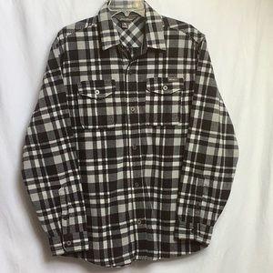 Eddie Bauer Plaid Fleece Shacket Shirt Size M